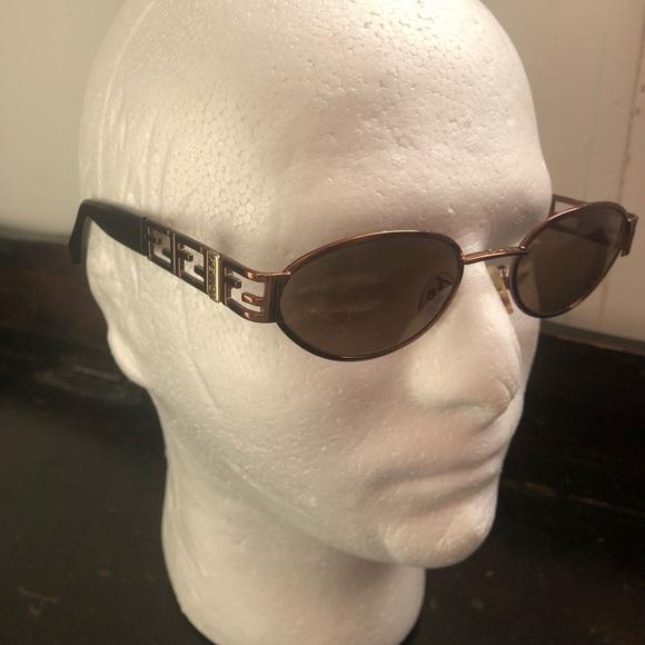 d917ad1082d Fendi Other - Men s Fendi Sunglasses Metal Oval Tortoise Bronze